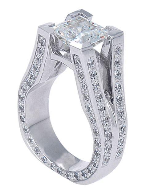 metropolitan 2 5 carat princess cut cubic zirconia pave