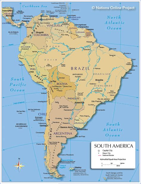 south america political map with major cities south america other maps