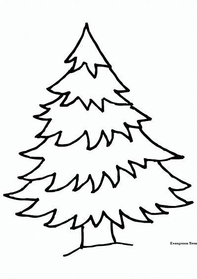 Mewarnai gambar untuk anak-anak: Gambar Pohon Untuk Mewarnai