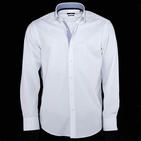 blue collar hugo eraldin white shirt with blue collar hugo from charles hobson uk