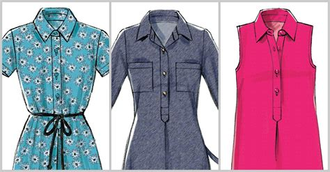 pattern sewing blog tutorial sewing the placket on mccall s m6885 shirtdress