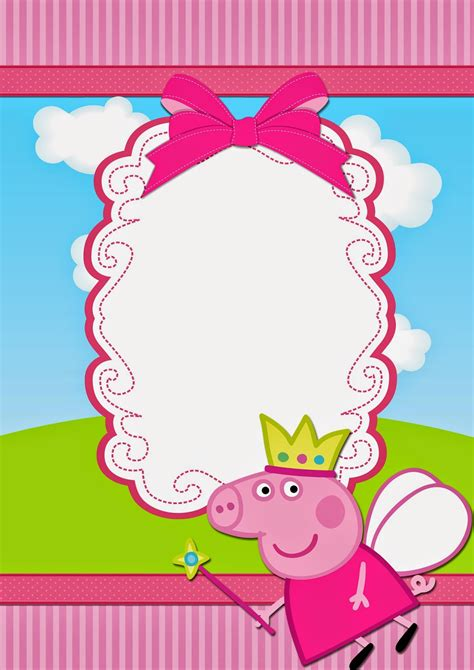 peppa pig printable birthday decorations peppa pig fairy free printable invitations cami 3
