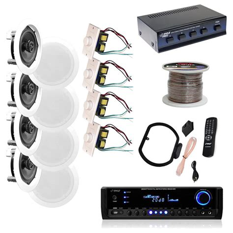 receiver for ceiling speakers new pyle kthsp590 4 150w 5 25 quot in wall ceiling speakers