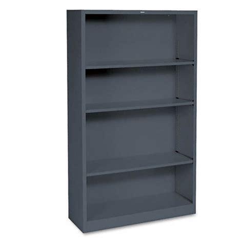 Hon Steel Bookcase Hon Brigade Metal Bookcase 4 Shelves 3 X 5 X 12 Charcoal