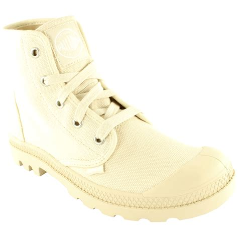 womens palladium pa hi sneakers lace up canvas ankle