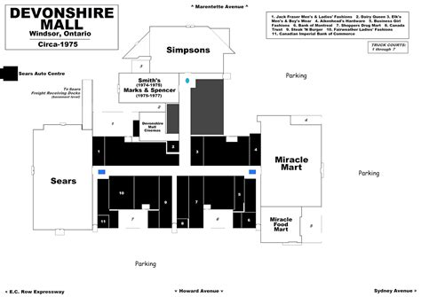 Layout Of Devonshire Mall | the shopping mall museum