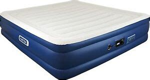 airtek king size raised air bed airbed flocked top mattress with built in ebay