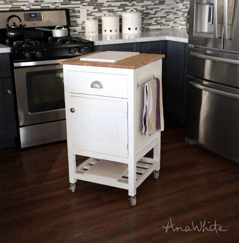 Ana White   Build a HOW TO: Small Kitchen Island Prep Cart