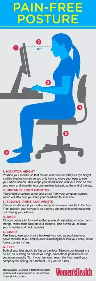 proper posture for desk work health