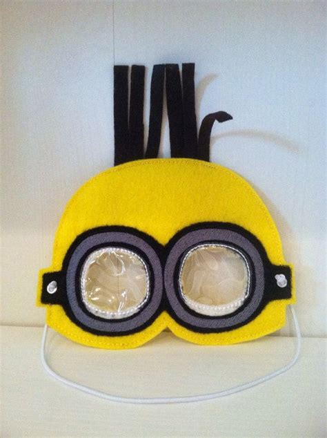 minion mask template pretend play minion inspired mask