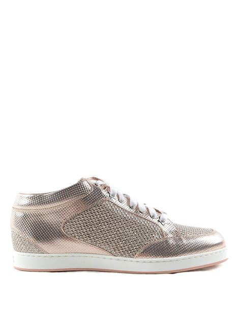 glitter sneakers miami metallic and glitter sneakers by jimmy choo