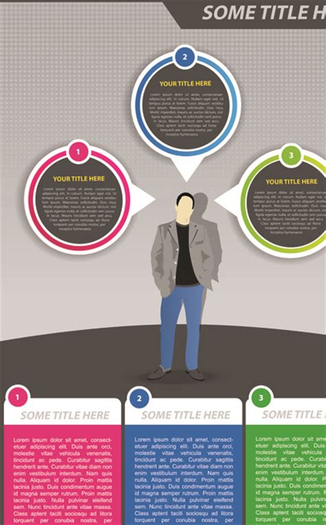 set of business flyer cover template vector 04 vector