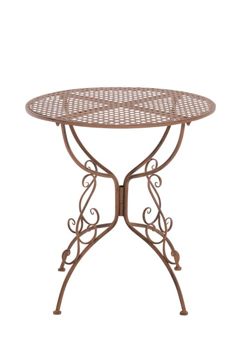 Table Amanda Round Garden Patio Outdoor Furniture Metal Vintage Patio Table