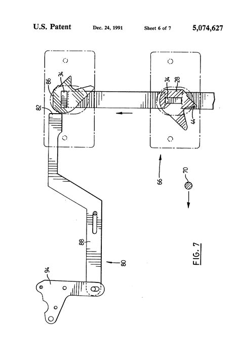 Drawer Locking Mechanism by Patent Us5074627 Anti Tilt And Locking Mechanism For