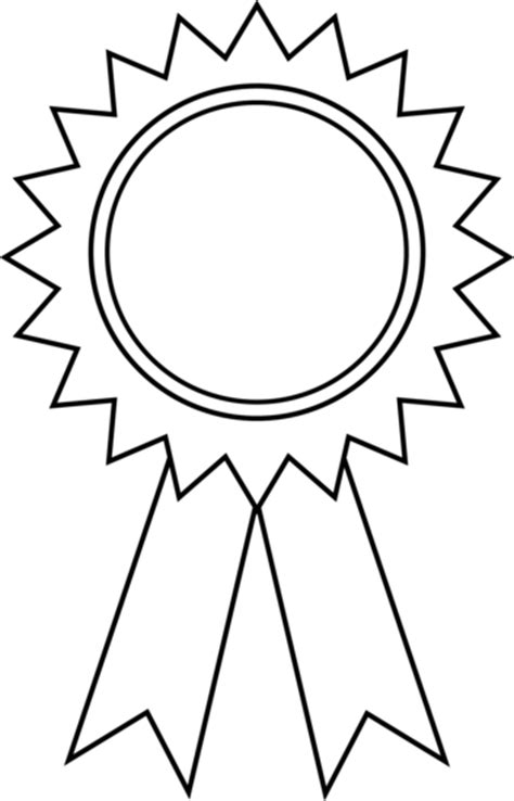 award ribbon template printable award ribbon outline free clip