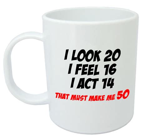 Novelty Coffee Mugs makes me 50 mug funny 50th birthday gifts presents for
