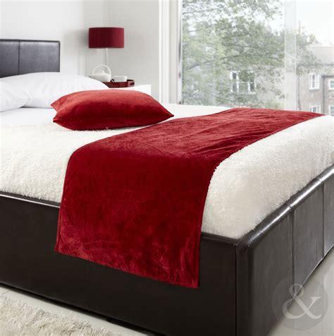 bed runner soft luxury velvet bed runner 19 quot x 78 quot plain bed