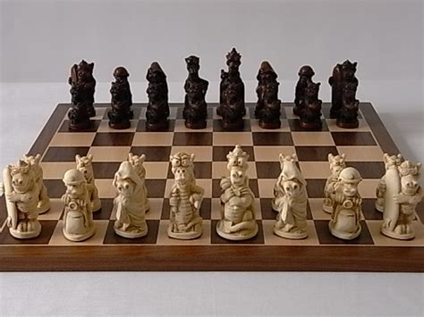 theme chess sets fun dragon plain theme chess set