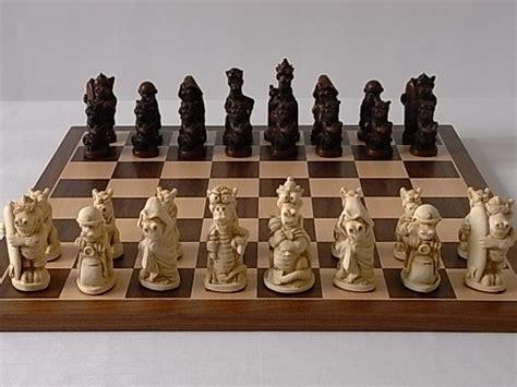 theme chess sets fun dragon plain theme chess set spil skak pinterest