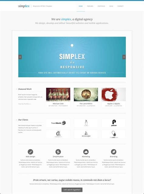 50 awesome responsive html5 templates creative