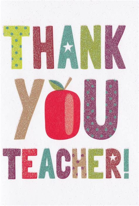 Thank You Card From Teacher To Parents For Gift - teacher thank you card karenza paperie
