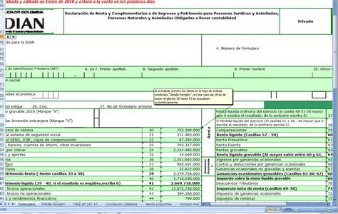 formulario 110 de renta 2015 en excel formulario 110 personas juridicas 2015