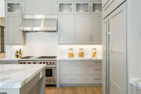 Light Gray Kitchens Light Gray Cabinets Contemporary Kitchen Markay Johnson Construction