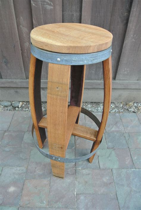 Barrel Stave Stools by Items Similar To Wine Barrel Stave Bar Stool On Etsy