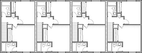 plex plans 4 plex plans narrow townhouse plans f 562