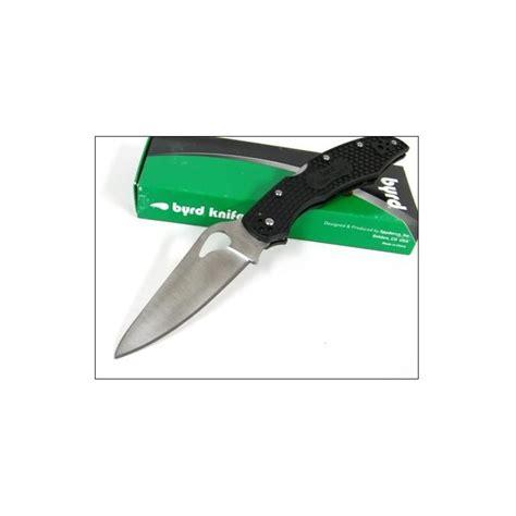 spyderco byrd cara cara couteau spyderco byrd black frn cara cara 2 knife by03pbk2