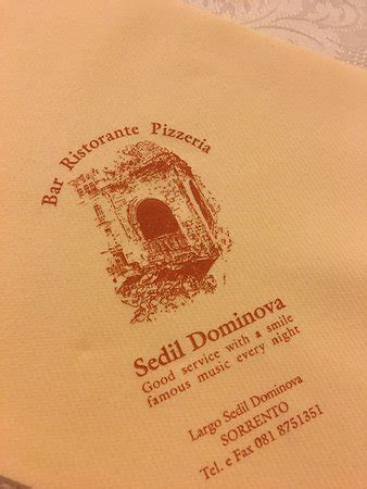 sedil dominova, sorrento restaurant reviews, phone