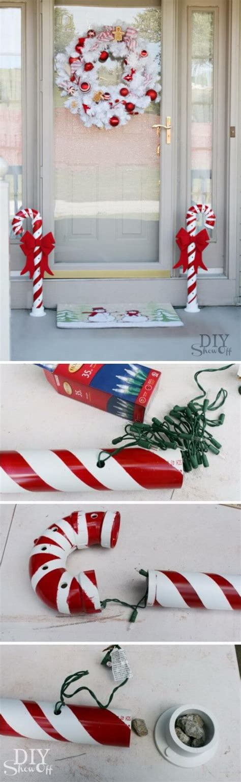 lighted pvc canes diy home decor diy show diy decorating and home 35 best diy outdoor decor ideas and designs for 2018