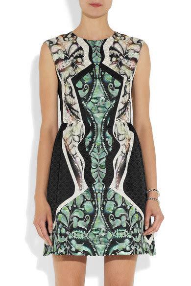 Silk Printed Silk Dress Intl pilotto printed silk jaquard dress net a