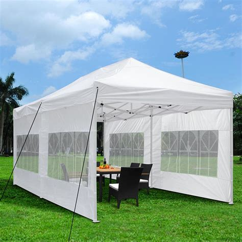 easy up awnings 10x20ft ez pop up outdoor garden folding marquee awning party patio wedding tent ebay