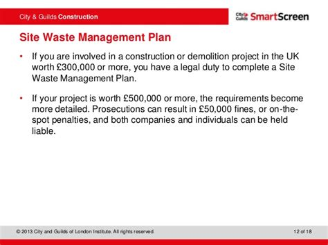 waste management strategy template 202 level 2 principles of building construction