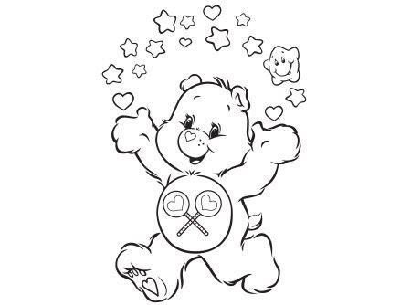 share bear coloring pages share bear shares care bear canada welcome to carebears ca