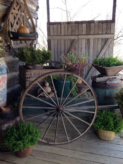 Primitive Outdoor Decor by 136 Best Primitive Porch And Outdoor Vignettes Images On