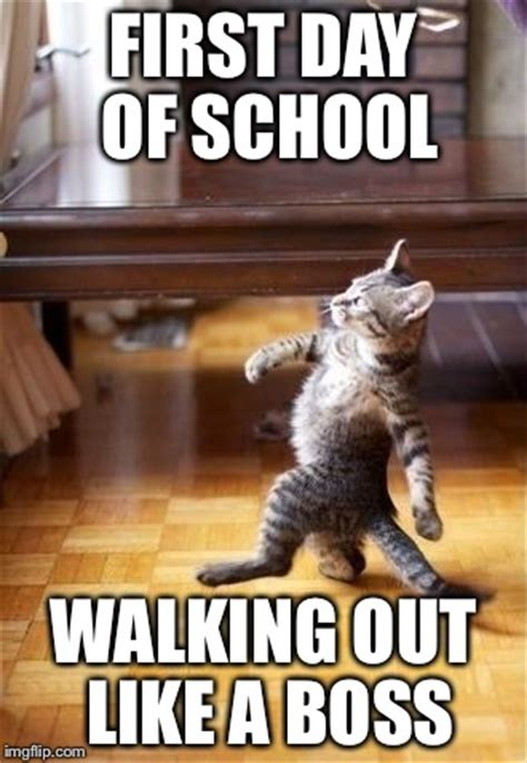 First Day Of College Meme - cool cat stroll meme imgflip