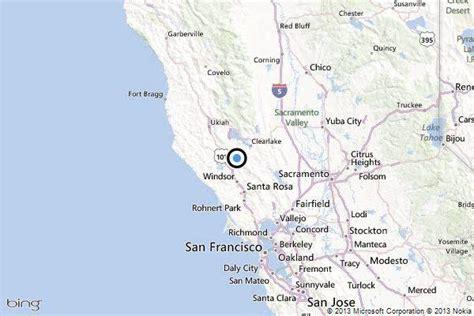 california earthquake epicenter map earthquake 3 0 quake strikes near the geysers calif