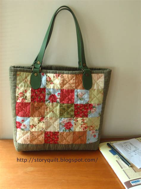 Patchwork Bag - patchwork casual bag another beginner year project this