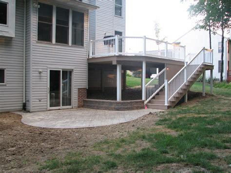 concrete decks and patios azek deck sted concrete patio in broadview heights
