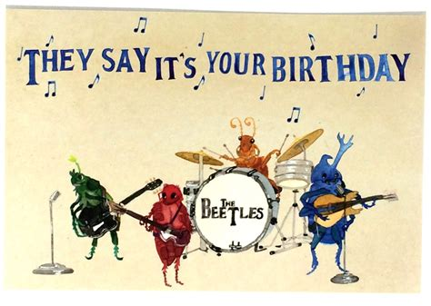 Birthday Musical Cards Pack Of 10 Funny Beatles Happy Birthday Postcards Ten