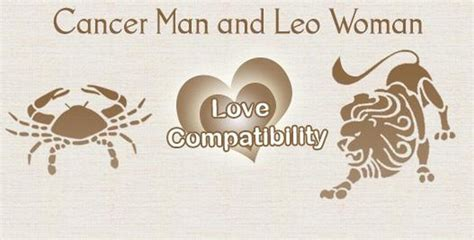 cancer man and leo woman love compatibility love