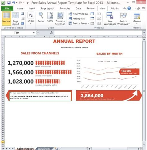 annual sales report template free sales annual report template for excel 2013