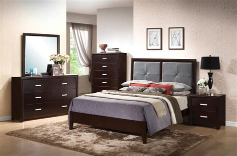Fabric Bedroom Furniture Coaster Andreas Fabric Upholstered Low Profile Bedroom Set Cappuccino 202471 Bedset At