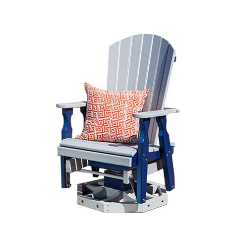 amish outdoor swivel glider chair amish fan back poly swivel glider chair from dutchcrafters