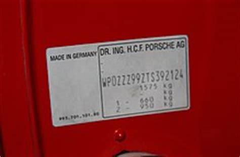 porsche vin numbers
