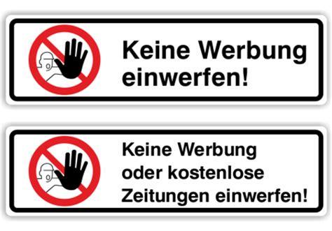 Aufkleber Keine Werbung Bitte by Aufkleber F 252 R Briefk 228 Sten Quot Keine Werbung Einwerfen Quot