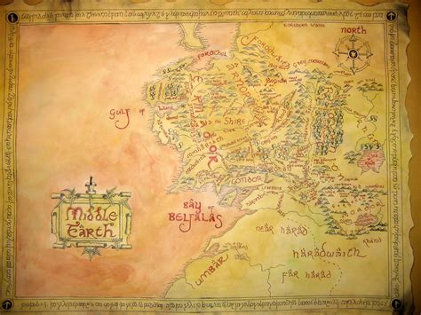 large map of middle earth big map of middle earth by threeringcinema on deviantart