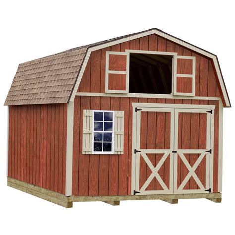 barns millcreek  ft   ft wood storage shed kit